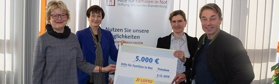 "5.000,- Euro an Stiftung ""Hilfe für Familien in Not"""